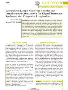 Vascularized Lymph Node Flap Transfer