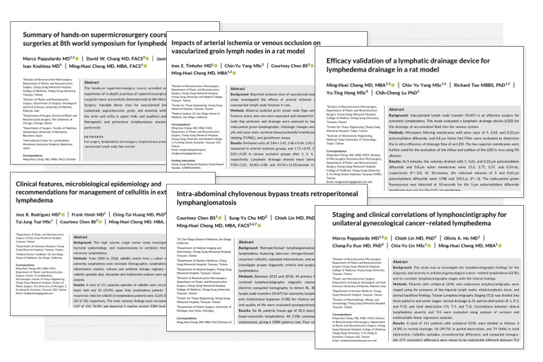 Congratulation! Papers Published in the Journal Surgical Oncology